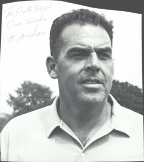 OTTO GRAHAM - INSCRIBED PHOTOGRAPH SIGNED