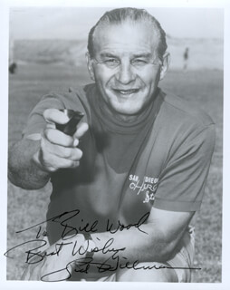 SID GILLMAN - AUTOGRAPHED INSCRIBED PHOTOGRAPH