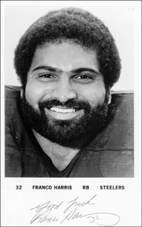 FRANCO HARRIS - AUTOGRAPHED SIGNED PHOTOGRAPH