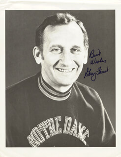 GERRY FAUST - AUTOGRAPHED SIGNED PHOTOGRAPH