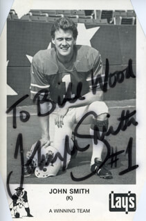 JOHN M. SMITH (FOOTBALL) - AUTOGRAPHED INSCRIBED PHOTOGRAPH