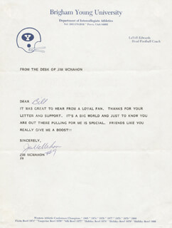 JIM McMAHON - TYPED LETTER SIGNED