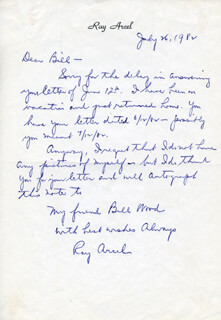 RAY ARCEL - AUTOGRAPH LETTER SIGNED 07/26/1982