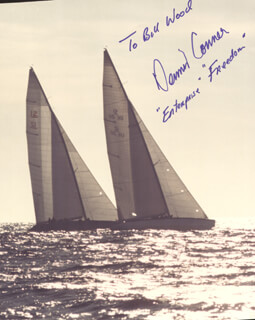 Autographs: DENNIS CONNER - INSCRIBED PHOTOGRAPH SIGNED