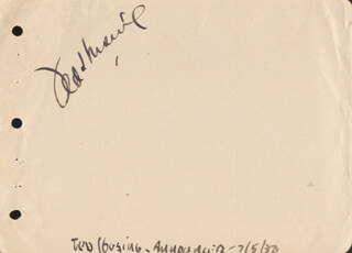 TED HUSING - AUTOGRAPH