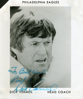 DICK (RICHARD ALBERT) VERMEIL - PRINTED PHOTOGRAPH SIGNED IN INK