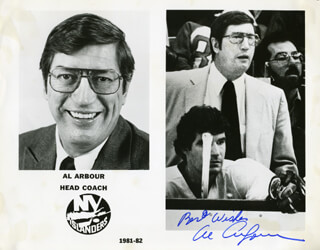 AL ARBOUR - PRINTED PHOTOGRAPH SIGNED IN INK