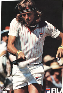 Autographs: BJORN BORG - INSCRIBED PHOTOGRAPH SIGNED
