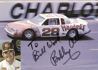 Autographs: BOBBY ALLISON - INSCRIBED PHOTOGRAPH SIGNED