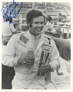 AL UNSER - AUTOGRAPHED INSCRIBED PHOTOGRAPH