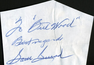 SAM SLAMMING SAMMY SNEAD - AUTOGRAPH NOTE SIGNED