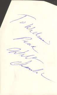 Autographs: WILT THE STILT CHAMBERLAIN - INSCRIBED SIGNATURE