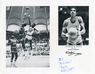 RALPH SAMPSON - INSCRIBED PRINTED PHOTOGRAPH SIGNED IN INK