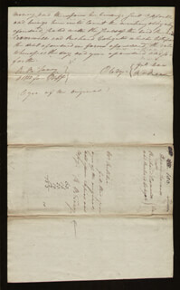 Autographs: CHIEF JUSTICE ROGER B. TANEY - AUTOGRAPH DOCUMENT TWICE SIGNED 10/12/1799