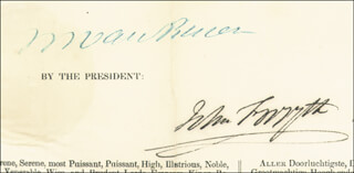 PRESIDENT MARTIN VAN BUREN - FOUR LANGUAGE SHIPS PAPERS SIGNED 07/17/1839 CO-SIGNED BY: JOHN FORSYTH