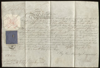 Autographs: KING WILLIAM IV - MILITARY APPOINTMENT SIGNED 08/05/1836 CO-SIGNED BY: PRIME MINISTER JOHN RUSSELL (GREAT BRITAIN)