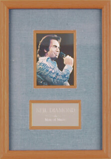 NEIL DIAMOND - AUTOGRAPHED INSCRIBED PHOTOGRAPH