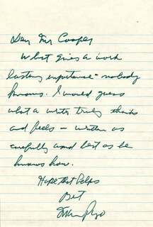 MARIO PUZO - AUTOGRAPH LETTER SIGNED