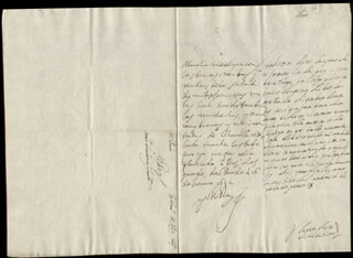 KING PHILIP IV (SPAIN) - AUTOGRAPH LETTER SIGNED 01/16/1652 CO-SIGNED BY: COUNTESS OF SALVATIERRA (ANTONIA MARCELA DE ACUÑA Y GUZMAN)