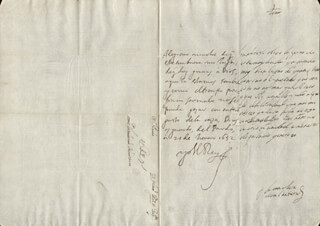 KING PHILIP IV (SPAIN) - AUTOGRAPH LETTER SIGNED 01/21/1652 CO-SIGNED BY: COUNTESS OF SALVATIERRA (ANTONIA MARCELA DE ACUÑA Y GUZMAN)