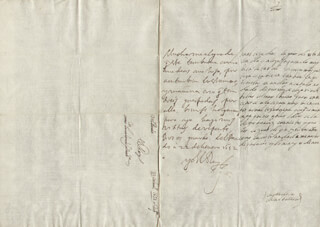 KING PHILIP IV (SPAIN) - AUTOGRAPH LETTER SIGNED 01/22/1652 CO-SIGNED BY: COUNTESS OF SALVATIERRA (ANTONIA MARCELA DE ACUÑA Y GUZMAN)