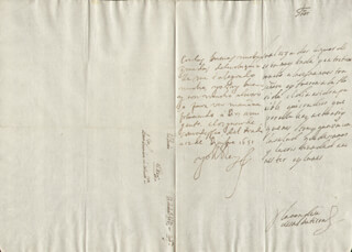 KING PHILIP IV (SPAIN) - AUTOGRAPH LETTER SIGNED 12/12/1651 CO-SIGNED BY: COUNTESS OF SALVATIERRA (ANTONIA MARCELA DE ACUÑA Y GUZMAN)