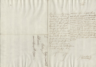 KING PHILIP IV (SPAIN) - AUTOGRAPH LETTER SIGNED 10/17/1651 CO-SIGNED BY: COUNTESS OF SALVATIERRA (ANTONIA MARCELA DE ACUÑA Y GUZMAN)