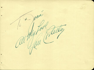 ABBOTT & COSTELLO (LOU COSTELLO) - AUTOGRAPH NOTE SIGNED CO-SIGNED BY: EDGAR BERGEN