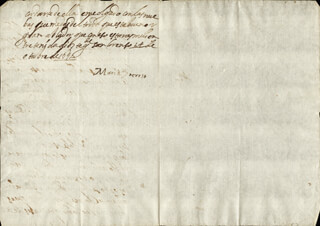 QUEEN MARIA TERESA (FRANCE) - AUTOGRAPH LETTER SIGNED 10/14/1651