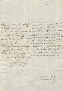 KING PHILIP IV (SPAIN) - AUTOGRAPH LETTER SIGNED 04/24/1652 CO-SIGNED BY: COUNTESS OF SALVATIERRA (ANTONIA MARCELA DE ACUÑA Y GUZMAN)