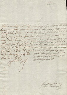 KING PHILIP IV (SPAIN) - AUTOGRAPH LETTER SIGNED 04/29/1652 CO-SIGNED BY: COUNTESS OF SALVATIERRA (ANTONIA MARCELA DE ACUÑA Y GUZMAN)