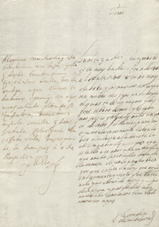 KING PHILIP IV (SPAIN) - AUTOGRAPH LETTER SIGNED 05/04/1652 CO-SIGNED BY: COUNTESS OF SALVATIERRA (ANTONIA MARCELA DE ACUÑA Y GUZMAN)