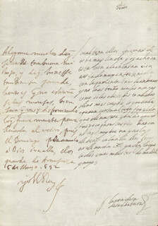 KING PHILIP IV (SPAIN) - AUTOGRAPH LETTER SIGNED 05/06/1652 CO-SIGNED BY: COUNTESS OF SALVATIERRA (ANTONIA MARCELA DE ACUÑA Y GUZMAN)