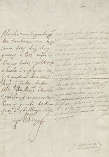 KING PHILIP IV (SPAIN) - AUTOGRAPH LETTER SIGNED 05/07/1652 CO-SIGNED BY: COUNTESS OF SALVATIERRA (ANTONIA MARCELA DE ACUÑA Y GUZMAN)