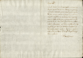 QUEEN MARIA TERESA (FRANCE) - AUTOGRAPH LETTER SIGNED 01/27/1653