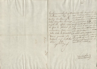 KING PHILIP IV (SPAIN) - AUTOGRAPH LETTER SIGNED 10/16/1652 CO-SIGNED BY: COUNTESS OF SALVATIERRA (ANTONIA MARCELA DE ACUÑA Y GUZMAN)