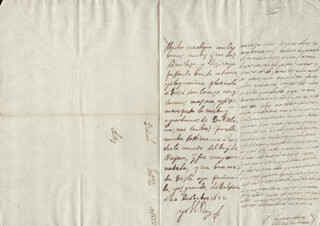 KING PHILIP IV (SPAIN) - AUTOGRAPH LETTER SIGNED 10/20/1652 CO-SIGNED BY: COUNTESS OF SALVATIERRA (ANTONIA MARCELA DE ACUÑA Y GUZMAN)