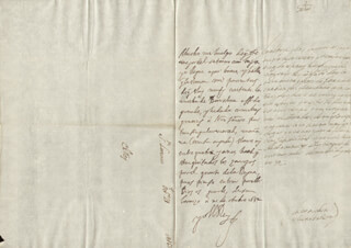 KING PHILIP IV (SPAIN) - AUTOGRAPH LETTER SIGNED 10/21/1652 CO-SIGNED BY: COUNTESS OF SALVATIERRA (ANTONIA MARCELA DE ACUÑA Y GUZMAN)