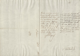 KING PHILIP IV (SPAIN) - AUTOGRAPH LETTER SIGNED 10/29/1652 CO-SIGNED BY: COUNTESS OF SALVATIERRA (ANTONIA MARCELA DE ACUÑA Y GUZMAN)