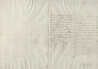 KING PHILIP IV (SPAIN) - AUTOGRAPH LETTER SIGNED 10/31/1652 CO-SIGNED BY: COUNTESS OF SALVATIERRA (ANTONIA MARCELA DE ACUÑA Y GUZMAN)