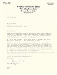 PRESIDENT GERALD R. FORD - TYPED LETTER SIGNED 08/30/1965
