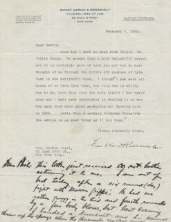 PRESIDENT FRANKLIN D. ROOSEVELT - TYPED LETTER SIGNED 02/07/1923 CO-SIGNED BY: MARTIN VOGEL