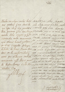 KING PHILIP IV (SPAIN) - AUTOGRAPH LETTER SIGNED 11/01/1654 CO-SIGNED BY: COUNTESS OF SALVATIERRA (ANTONIA MARCELA DE ACUÑA Y GUZMAN)