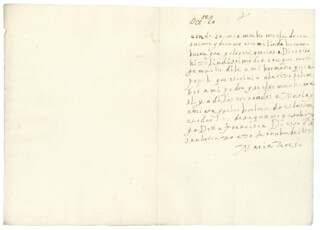 QUEEN MARIA TERESA (FRANCE) - AUTOGRAPH LETTER SIGNED 10/20/1653
