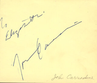 JOHN CARRADINE - INSCRIBED SIGNATURE