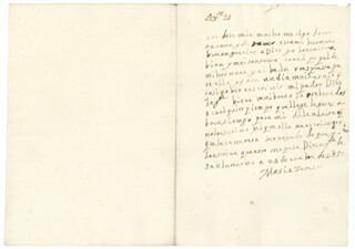 QUEEN MARIA TERESA (FRANCE) - AUTOGRAPH LETTER SIGNED 10/24/1653