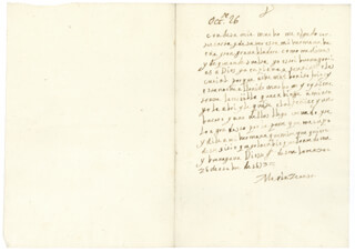 QUEEN MARIA TERESA (FRANCE) - AUTOGRAPH LETTER SIGNED 10/26/1653
