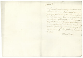 QUEEN MARIA TERESA (FRANCE) - AUTOGRAPH LETTER SIGNED 01/31/1655