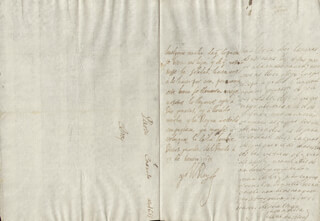 KING PHILIP IV (SPAIN) - AUTOGRAPH LETTER SIGNED 01/10/1655 CO-SIGNED BY: COUNTESS OF SALVATIERRA (ANTONIA MARCELA DE ACUÑA Y GUZMAN)