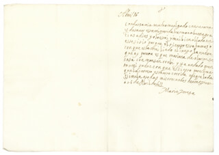 QUEEN MARIA TERESA (FRANCE) - AUTOGRAPH LETTER SIGNED 04/16/1655